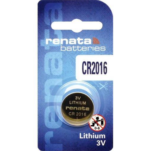 Knoflíková baterie Renata CR 2016, lithium, 700303