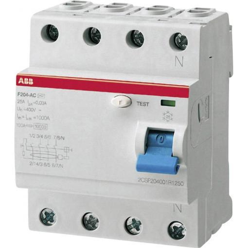 Proudový chránič ABB 2CSF204101R1400, 40 A, 4pólový
