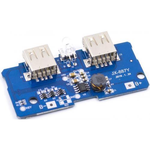 Napájecí modul, step-up měnič 5V +nabíječka Li-Ion