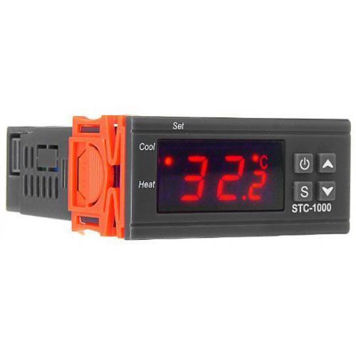 Digitální termostat STC-1000, rozsah -50 ~ +99°C, napájení 230VAC