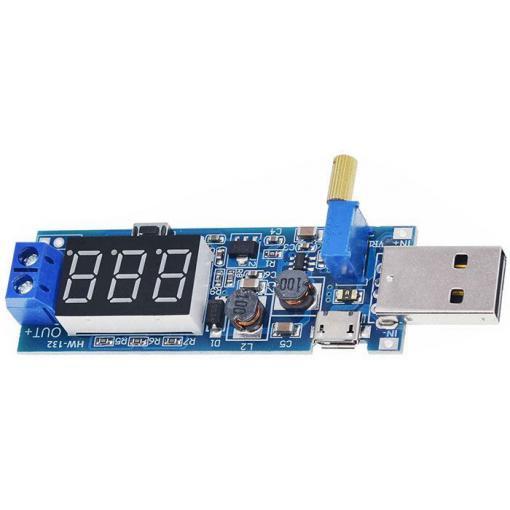 Napájecí modul, step-up měnič 3,5-12V na 1,2-24V včetně USB