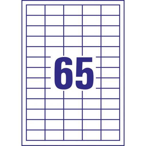 Avery-Zweckform 3666 etikety 38 x 21.2 mm papír bílá 6500 ks permanentní univerzální etikety inkoust, laser, kopie 100 Sheet A4