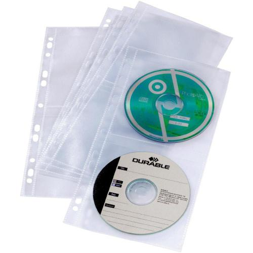 Obaly na CD/DVD pro kroužkovouvazbu sada 5 ks