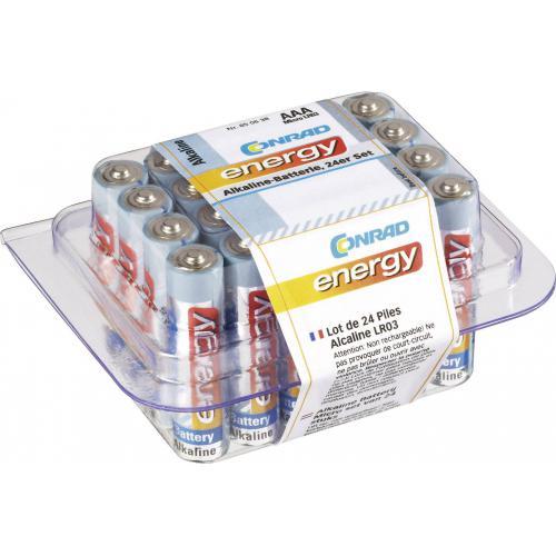 Alkalické baterie mikrotužkové Conrad energy, typ AAA, 24 ks