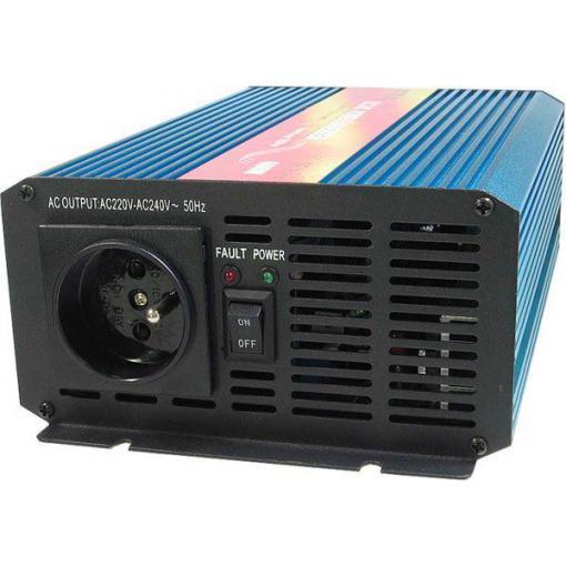 Měnič napětí 12V/230V 600W, CARSPA P600, čistá sinusovka