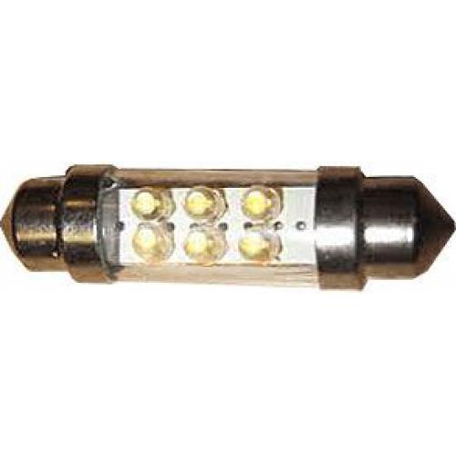 Žárovka LED SV8,5-8 sufit 36mm 12V /2W bílá, 6xLED 1,8mm