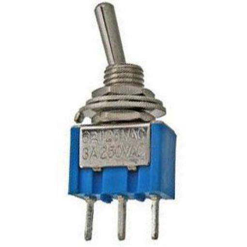 Přepínač páčkový MTS-103, ON-OFF-ON, 1pol. 250V/3A