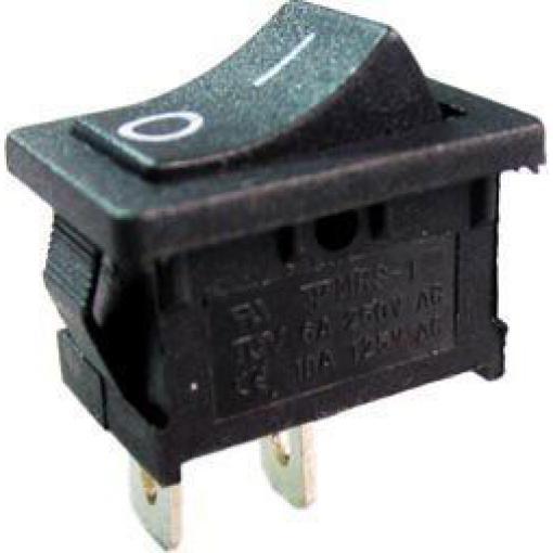 Vypínač kolébkový MRS-101, OFF-ON 1pol.250V/3A černý