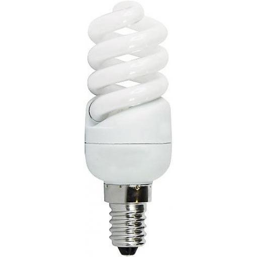 Úsporná žárovka 230V/9W E14 spirála,teplá bílá, DOPRODEJ