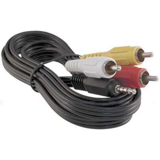 Kabel 3xCinch-Jack 3,5mm 4P,  1,5m