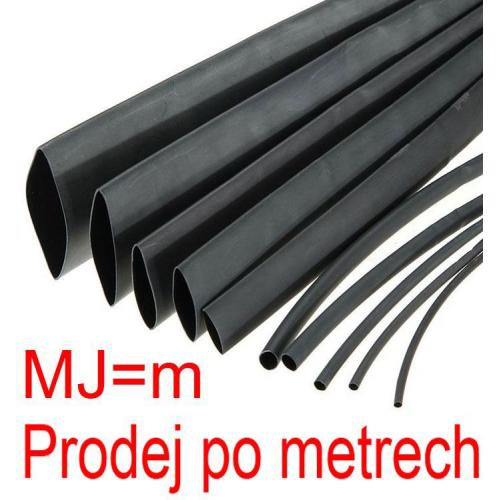Smršťovací bužírka 4,0/2,0mm černá