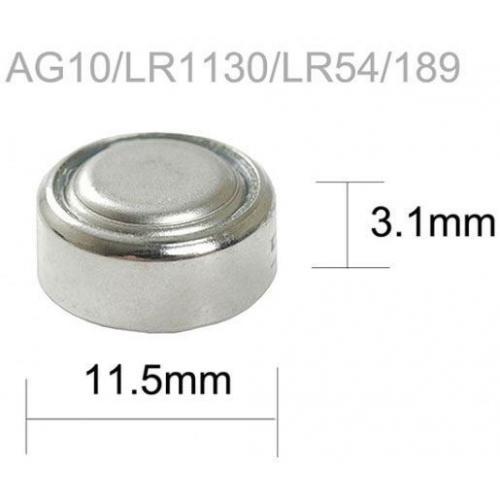 Baterie TINKO LR54 (AG10,LR1130,GP389) alkalická
