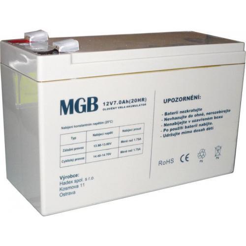 Pb akumulátor MGB VRLA AGM 12V/7Ah
