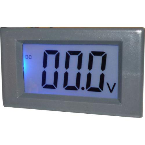 Digitální panelový voltmetr JY-Y85, 100VDC, napájení 6-12VDC