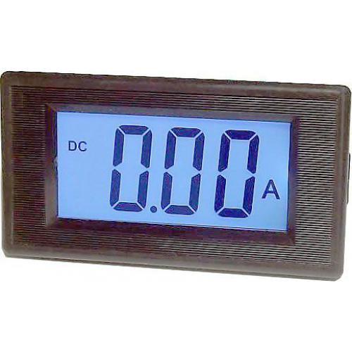 Digitální panelový ampérmetr JYX85 - 10A DC, LCD, napájení 6-12V DC