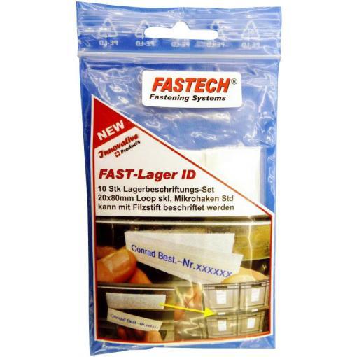 Štítek na suchý zip lepicí bílá FASTECH® 610-010-Bag 10 ks