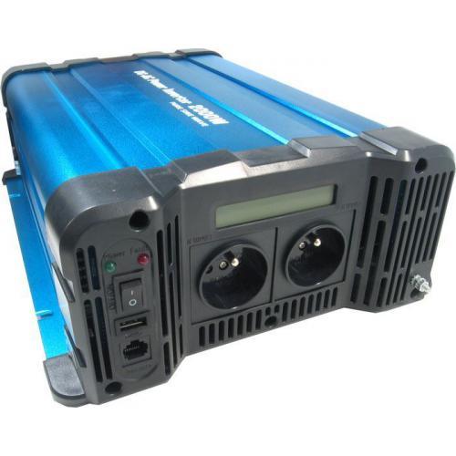 Měnič napětí 12V/230V 2000W, Solarvertech FS2000, čistá sinusovka,D.O.