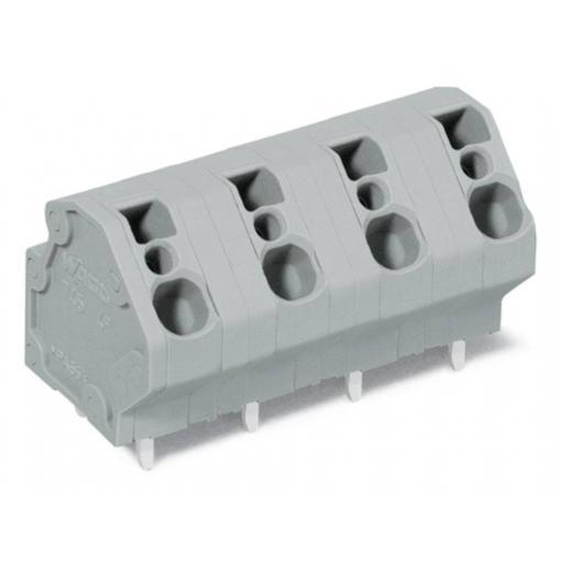 Pružinová svorkovnice WAGO 745-3204, 4.00 mm², Pólů 4, šedá, 84 ks