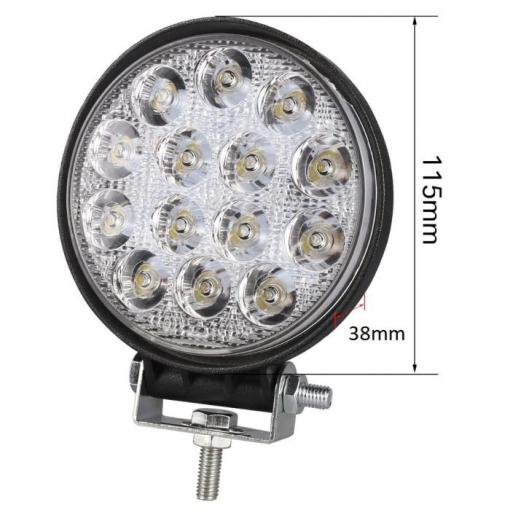 Pracovní světlo LED 10-30V/42W, průměr 115x38mm