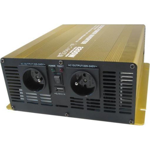 Měnič napětí 12V/230V 2200W, Soluowill NP2200, čistá sinusovka