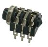 Konektor JACK 6,3 STEREO - zásuvka panelová KJ10