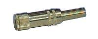 Zdířka 3.5 stereo kabel kov zlatá