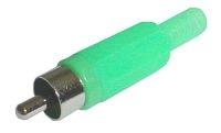 Konektor CINCH kabel plast zelený
