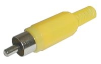 Konektor CINCH kabel plast žlutý