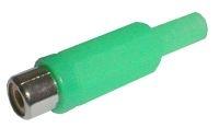 Zdířka CINCH kabel plast zelená