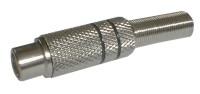 Zdířka CINCH kabel kov nikl černá