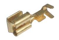 Zdířka faston rozvaděč 6.3mm neizolovaná