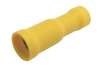Zdířka kruhová 5mm, vodič 4.0-6.0mm žlutá