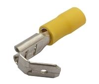 Zdířka faston rozvaděč 6.3mm, vodič 4.0-6.0mm žlutý
