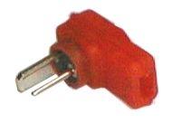 Konektor repro úhlový páj. červený