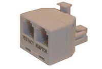 Redukce telefonní konektor/ 2xzdířka 6p-2c RT4