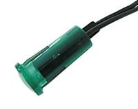Kontrolka kulatá 12V DC zelená (drát.vývod)