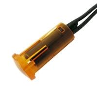 Kontrolka kulatá 12V DC žlutá (drát.vývod)
